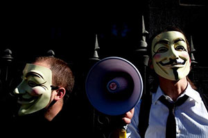 Anonymous attacked PayPal with DDoS in 2010.