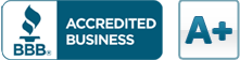 Rated A+ by the Better Business Bureau